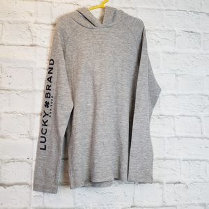 Lucky Brand Gray Thermal Hoodie Boy's M(10/12)